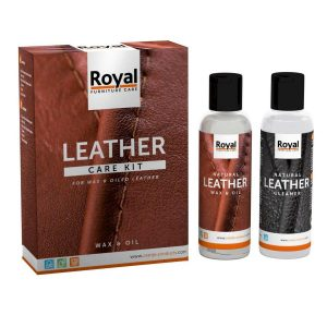 royal leather care kit wax en oil