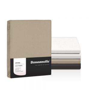 Bonnanotte jersey topper hoeslaken wit